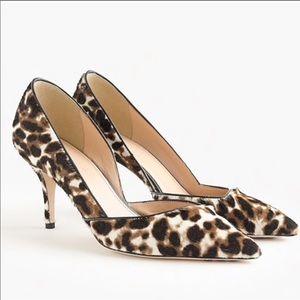 J. Crew Colette D'Orsay Calf-Hair Heels